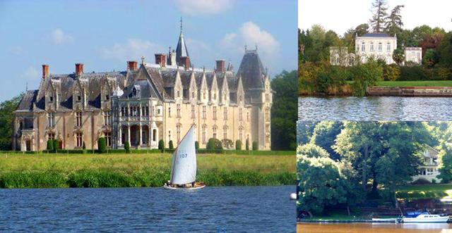 Виды особняков и замков с канала
