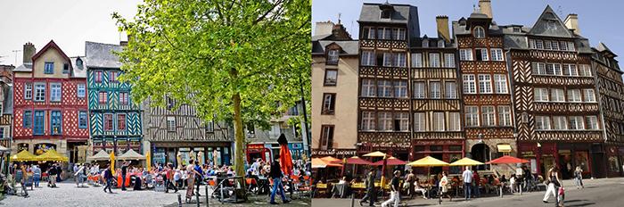 Город Ренн Франция, исторический центр