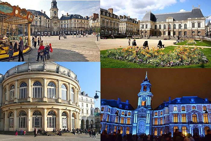 Город Ренн Франция