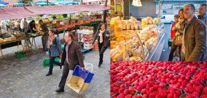 Город Ренн Франция, городской рынок