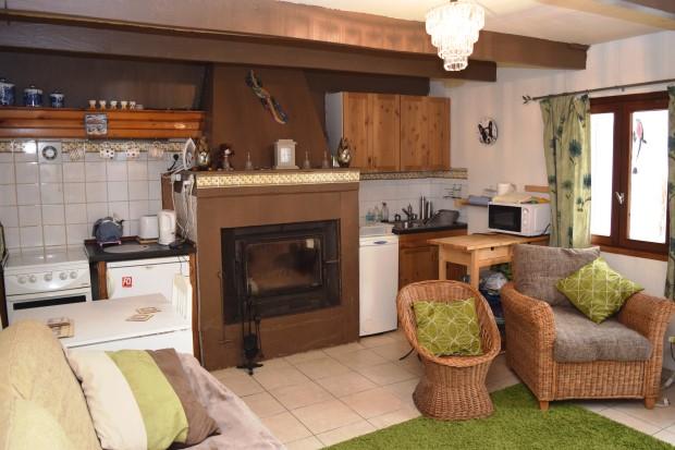 гостинная с кухней фото