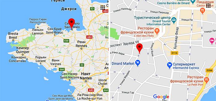 Рынок Динара на карте