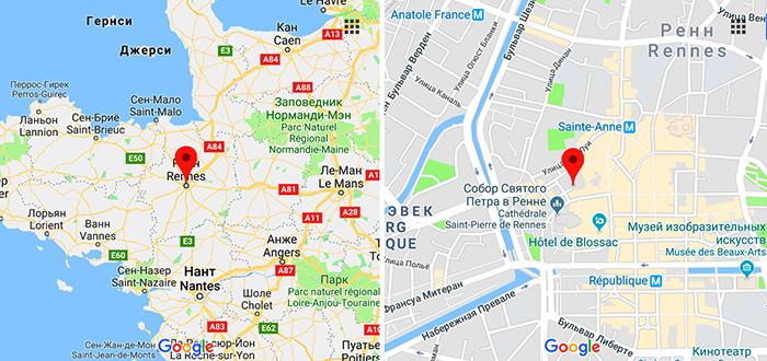 Рынок Марше де Лиз на карте