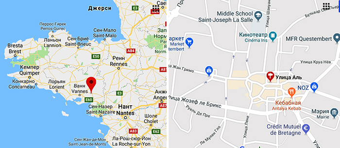 Рынок Кестембера на карте