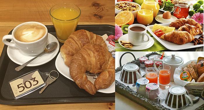 Континентальный завтраки в гостиницах Франции (Бретань)