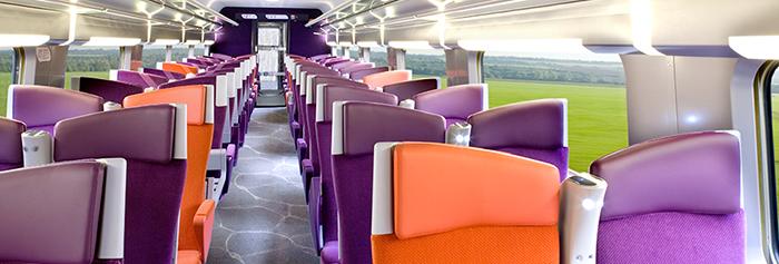 обстановка вагона 2 класса поезда TGV