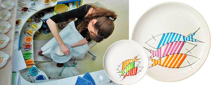 фото мастерской фаянса в кемпере и примеры современного бретонского дизайна блюд