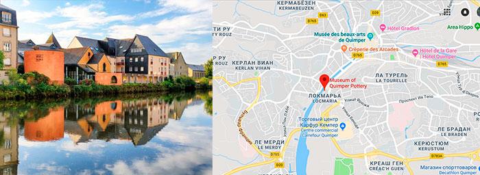 Музей бретонской керамики на карте города Кемпер