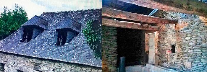 элементы реконструкции каменной постройки во французской деревне фото