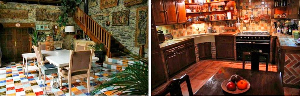 кухня-гостинная в доме, перестроенном из французского амбара фото