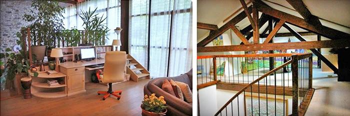 Старинный сеновал - реконструкция в современное помещение, полное света.