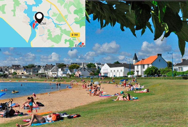 Пляжи Франции - детский пляж в Этель (Бретань)