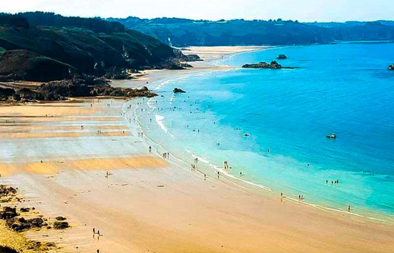 Пляжи Франции - пляж Порт Можер (Бретань)