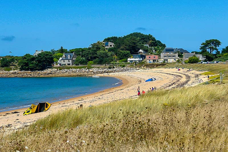Пляж де Гутрейз (Бретань, Франция) фото